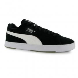 Puma Suede S Junior Boys Trainers Black/White