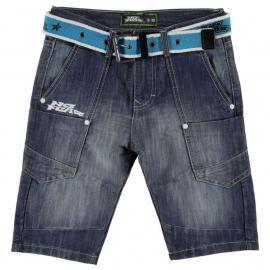 Kraťasy No Fear Belted Shorts Junior Boys Mid Wash