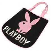 Dámská taška Playboy černo-růžová