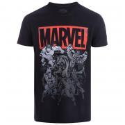 Get The Label Mens Marvel Collective T-Shirt Black