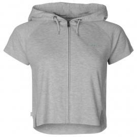 Mikina LA Gear Interlock Cap Sleeve Zip Top Womens Grey Marl