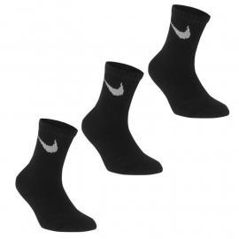 Nike 3 Pack Crew Socks Child Black