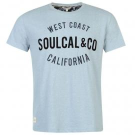 Tričko SoulCal Logo T Shirt Mens Sky Marl