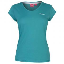 LA Gear V Neck T Shirt Ladies Teal