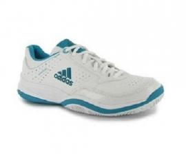 Adidas Ambition VII Stripes Ladies Tennis Shoes White/Emerald