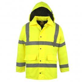 Dunlop Hi Vis Parka Mens Yellow