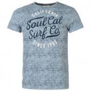 Tričko SoulCal AOP Flk Tee Pale Denim