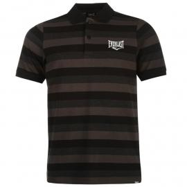 Everlast Stripe Polo Shirt Mens Black