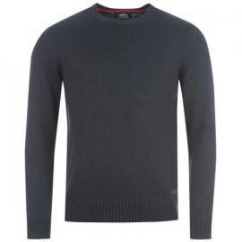 Kangol Class Crew Knitted Jumper Mens Navy Marl