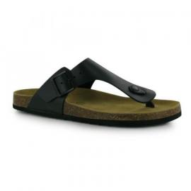 Kangol Toe Post Sandals Ladies Black