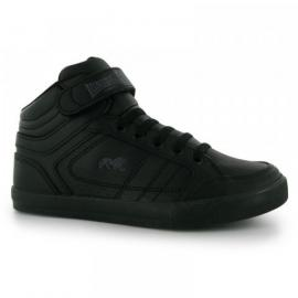 Lonsdale Canons Kids Trainers Black/Charcoal