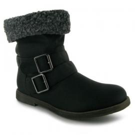 Miss Fiori Shear Ladies Ankle Boots Černé
