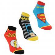 Ponožky Character Trainer Socks 3 Pack Mens DC Comics