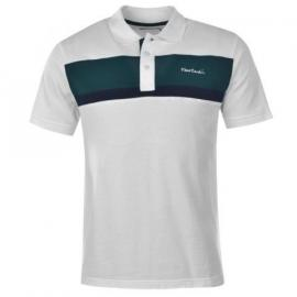 Pierre Cardin Panel Polo Shirt Mens White