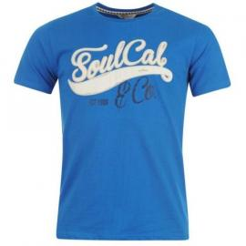 Tričko SoulCal Logo T Shirt Mens True Blue