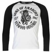 Official Sons of Anarchy Long Sleeve T Shirt Mens Moto Club