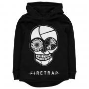 Mikina Firetrap Graphic OTH Hoody Junior Boys Black