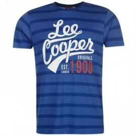 Lee Cooper Yard Crew T Shirt Mens Royal Blue