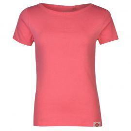 Lee Cooper Cooper Ribbed T Shirt Ladies Fuschia