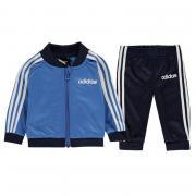 Tepláky adidas 3 Stripe Poly Tracksuit Baby Boys Blue