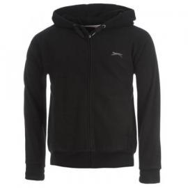 Slazenger Full Zip Fleece Hoody Mens Black