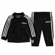 Tepláky adidas 3 Stripe Poly Tracksuit Baby Boys Black/White