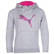 Puma Junior Girls Style Hoody Grey Marl