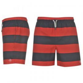 Kraťasy SoulCal Stripe Swim Shorts Navy/Red