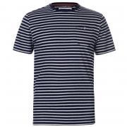 Tričko SoulCal Stripe T Shirt Mens Navy/White