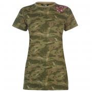 Golddigga Slogan T Shirt Ladies Camo