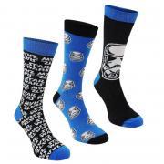 Ponožky Star Wars Star Wars 3 Pack Crew Socks Mens Star Wars