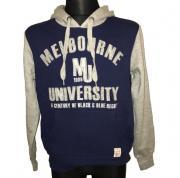 Mikina s potiskem Melbourne MU1809 University tmavě modrá