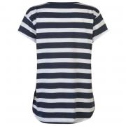 Miso V Neck T Shirt Ladies Navy/White