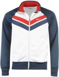 Pánská mikina Nike - bílá/modrá