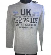 Tričko s dlouhým rukávém UK Winner - 1968 šedá