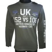 Tričko s dlouhým rukávém UK Winner - 1968 khaki