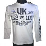 Tričko s dlouhým rukávém UK Winner - 1968 bílá