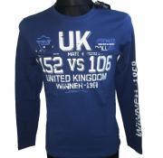 Tričko s dlouhým rukávém UK Winner - 1968 modrá