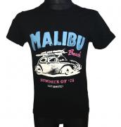 Pánské tričko malibu beach s krátkým rukávem černá