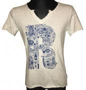 Pánské tričko Leeyo s krátkým rukávem šedá