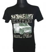 Pánské tričko s krátkým rukávem a potiskem SERGEANT černá