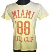 Pánské tričko s krátkým rukávem Miami full clip žlutá