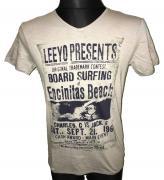Pánské triko s krátkým rukávem Leeyo Present světle hnědá