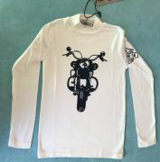 Chlapecké tričko s dlouhým rukávem Small Gang 1986 bílá