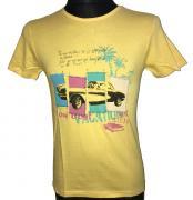 Pánské triko s krátkým rukávem žlutá