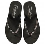 Boty Skechers Med Daisy Flip Flops Ladies Black