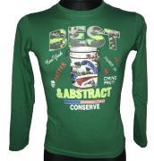 Chlapecké tričko s dlouhým rukávem Best Abstract zelená