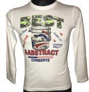 Chlapecké tričko s dlouhým rukávem Best Abstract bílá