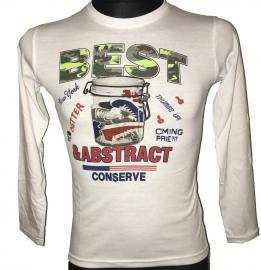 Chlapecké tričko s dlouhým rukávem Best Abstract bílá Velikost - 10 let