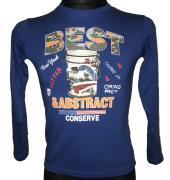 Chlapecké tričko s dlouhým rukávem Best Abstract modrá